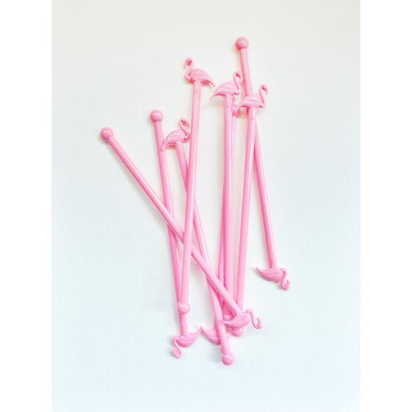Flamingo Drink Stirrers- Booze News // stirandstrain.com