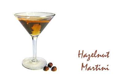 Hazelnut Martini Cocktail MxMo Roundup // stirandstrain.com