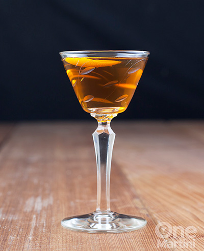 Bourbon Nocello Cocktail MxMo Roundup // stirandstrain.com