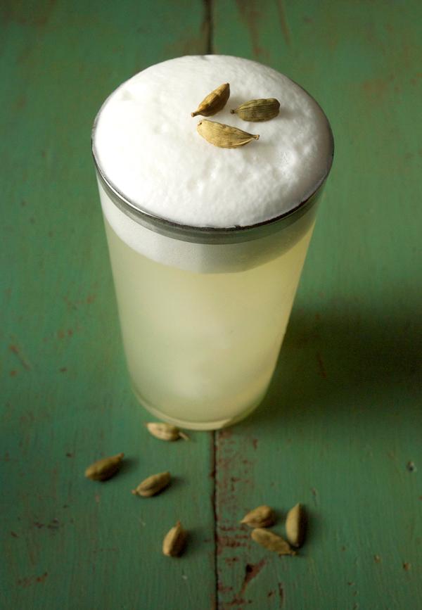 An Isle Away #Cocktail with cardamom coconut foam // stirandstrain.com