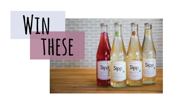 Giveaway with Sipp Sparkling Organics // stirandstrain.com