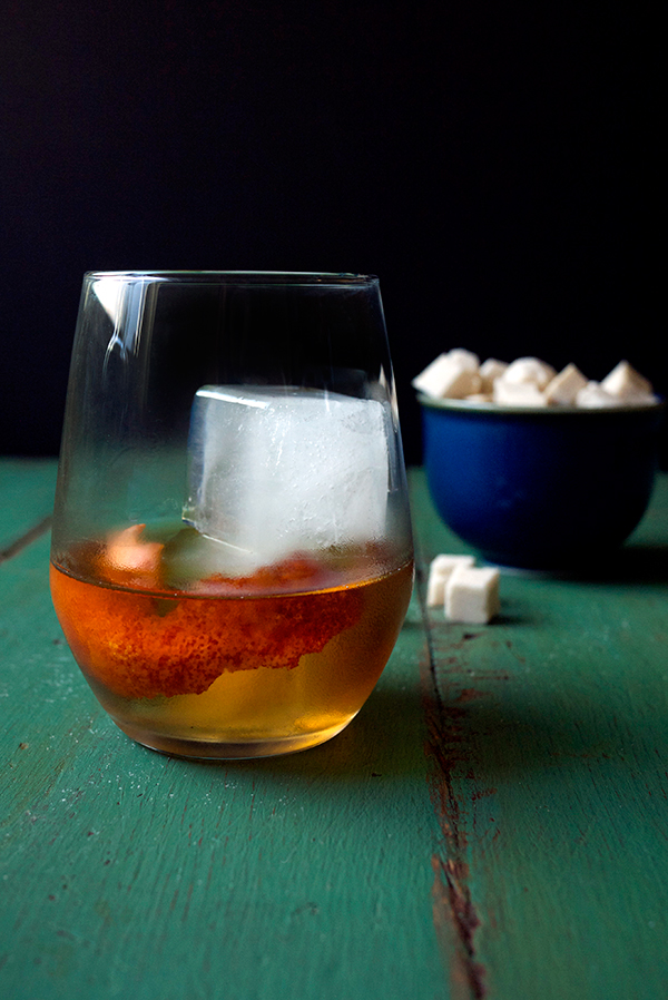 Homemade Smoked Sugar Cubes and Sour Cherry Cocktail // stirandstrain.com