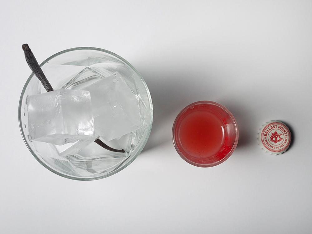 Rhubarb-Vanilla Beer and Pisco Cocktail // stirandstrain.com