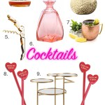 Valentine's Day Bar Cart Styling