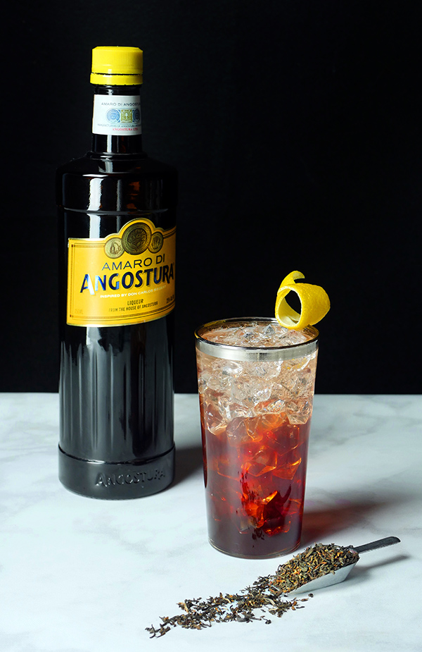 Siegert's Sparkling Cocktail: Earl Gray Tea and Angostura Amaro for Mother's Day and World Cocktail Day // stirandstrain.com