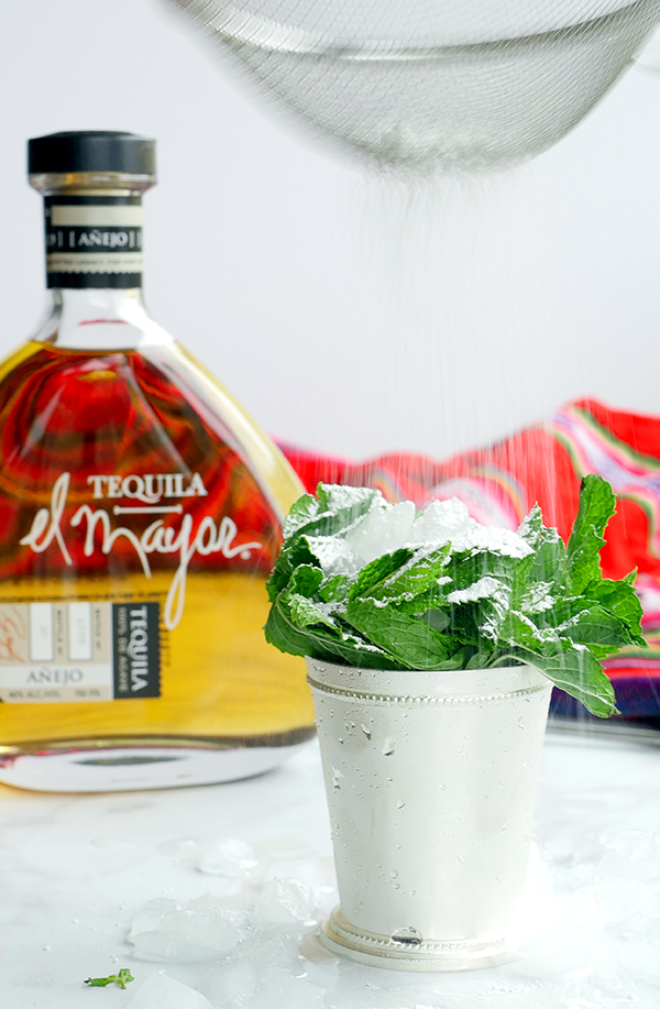 The Tequila Mint Julep with El Mayor Tequila // stirandstrain.com
