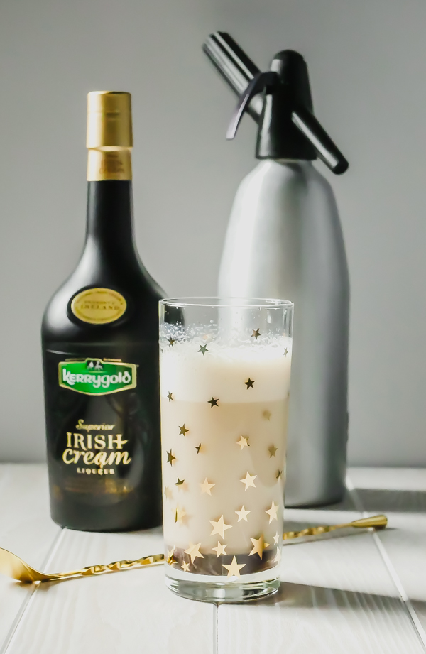 Kerrygold Chocolate Egg Cream Cocktail // stirandstrain.com