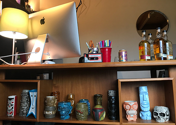 Monday Booze News it's a tiki shelf! // stirandstrain.com