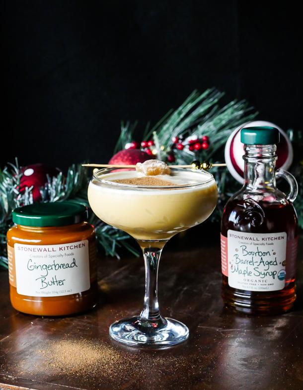 Cocktail Pantry Twists: Maple Gingerbread Butter Flip // stirandstrain.com