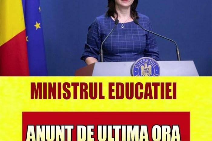 Ministrul Educației, anunț important despre școala online!