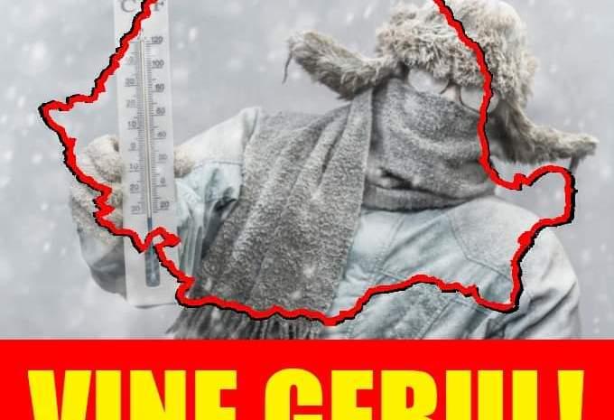 Alertă meteo de GER în toată ţara. Temperaturile vor scădea până la -20 grade. Cum va fi vremea la Bucureşti