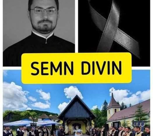 Un semn divin a apărut pe cer în timpul înmormântării tânărului preot răpus de COVID la doar 34 de ani! Toți cei prezenți au rămas uimiți!