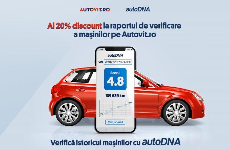 Utlizatorii Autovit.ro pot verifica istoricul mașinilor direct din site