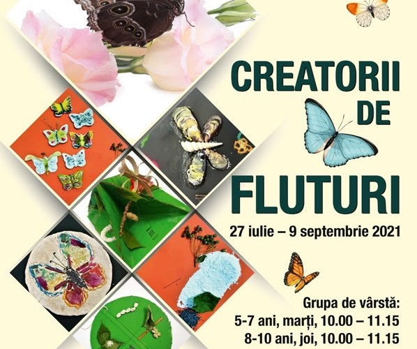 """Muzeul Național de Istorie Naturală """"Grigore Antipa"""" organizează Atelierele de science & craft """"Creatorii de fluturi"""""""
