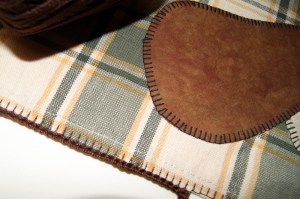 Making SC in blanket stitching row