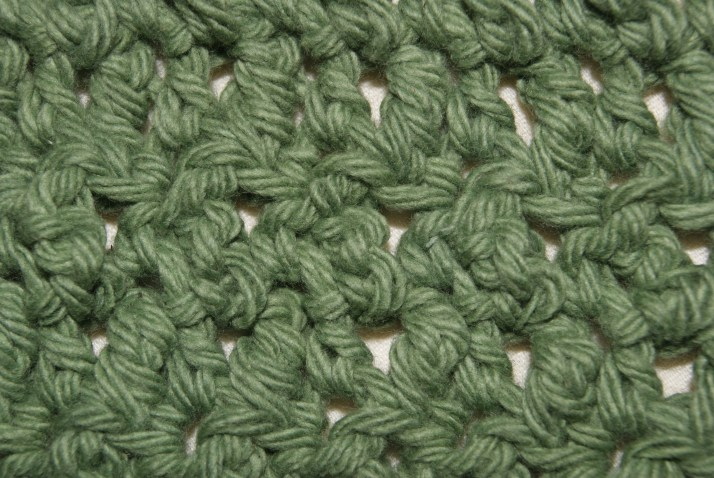 Seed stitch pattern, close up