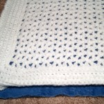 This is where I folded over the edge of crochet to create binding