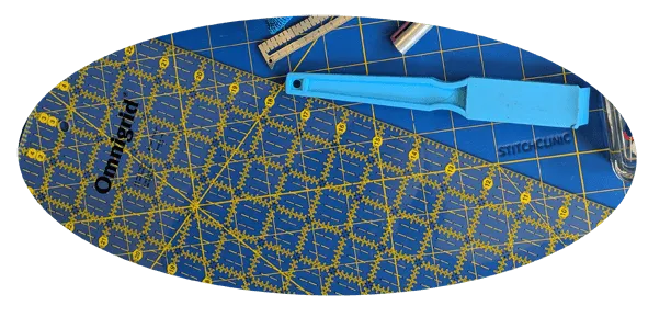 Magnet and quilting ruler