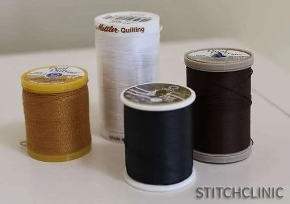 Specialty thread types in assorted colors