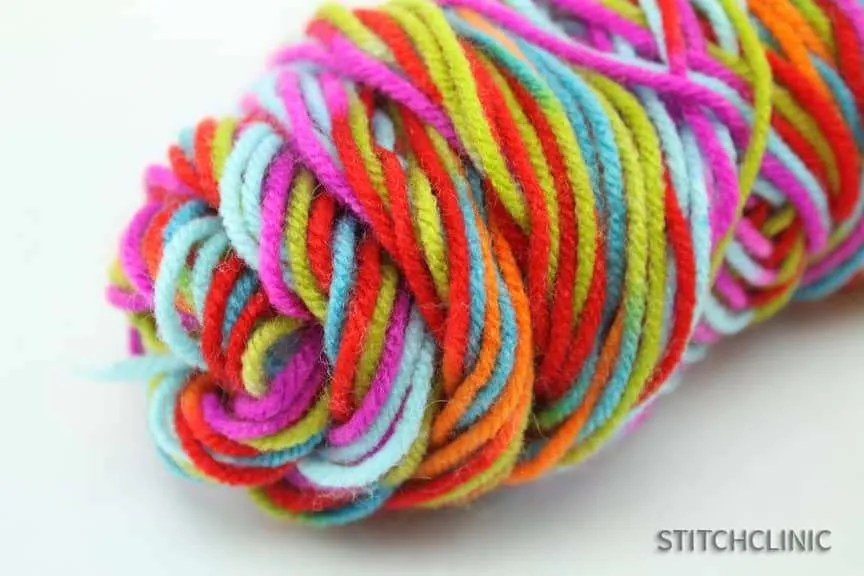 Acrylic Yarn in bright rainbow colors