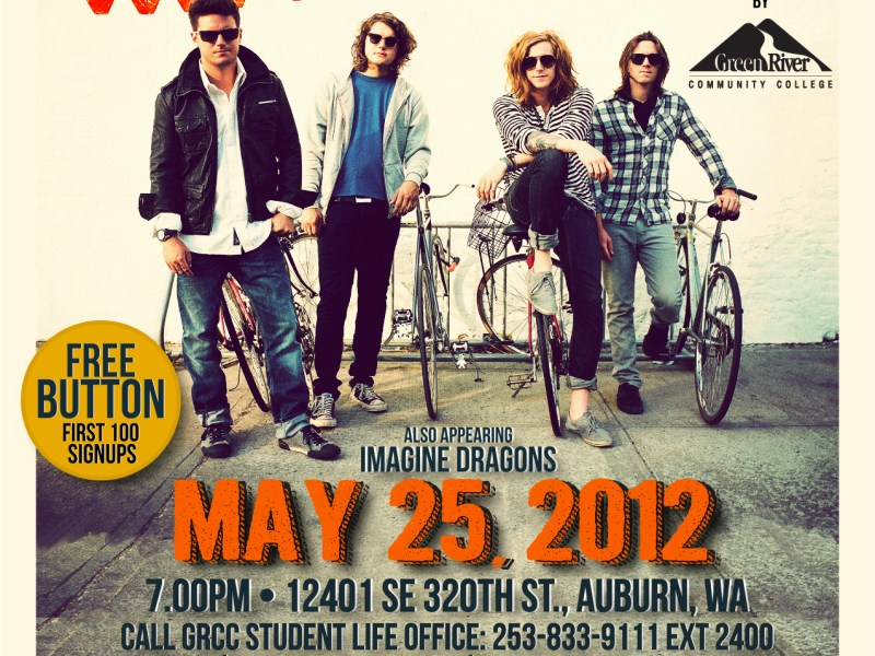 We the Kings to perform at Green River Community College