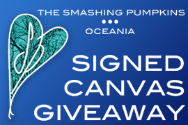 Smashing Pumpkins Signed Canvas Giveaway