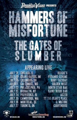 Hammers Of Misfortune summer tour