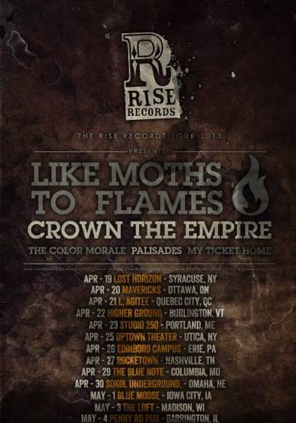 Rise Records 2013 tour bands and dates announced