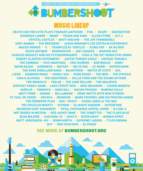 Seattle's Bumbershoot Festival Lineup Announced