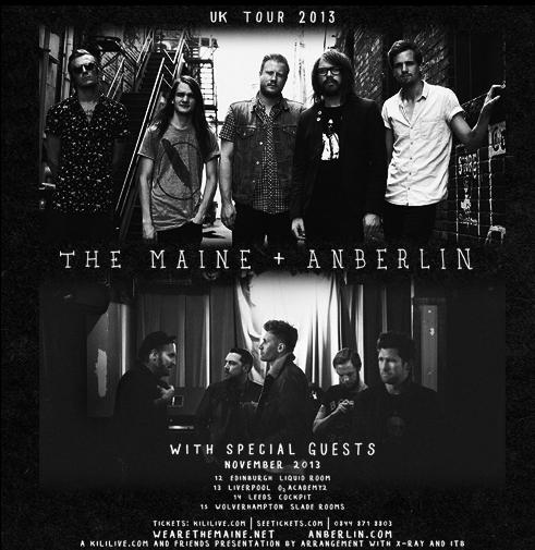The Maine Announce UK Tour