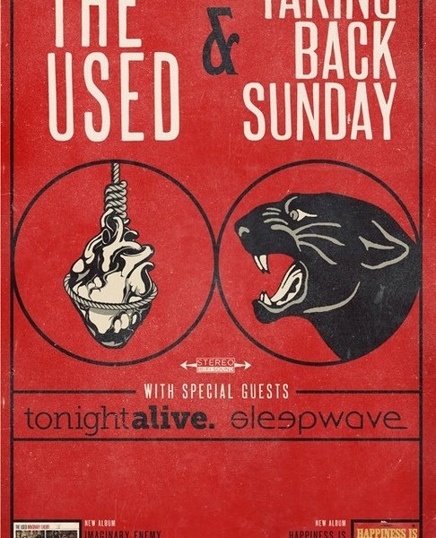 Taking Back Sunday + The Used Announce US Co-Headlining Tour
