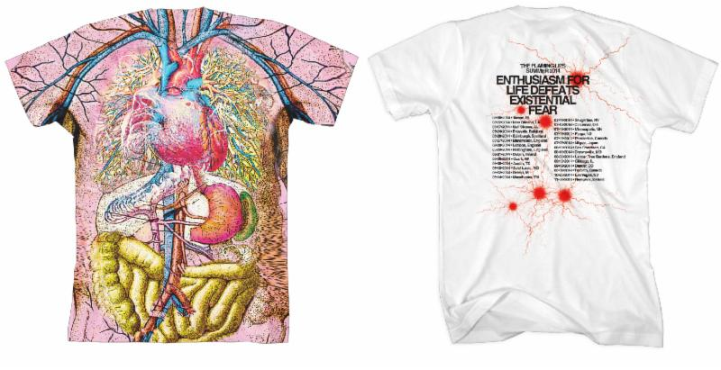 The Flaming Lips release four new shirts on their webstore
