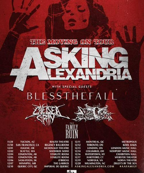 Asking Alexandria + Blessthefall Announce Fall North American Tour