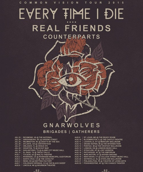 Every Time I Die + Real Friends Announce Summer Tour