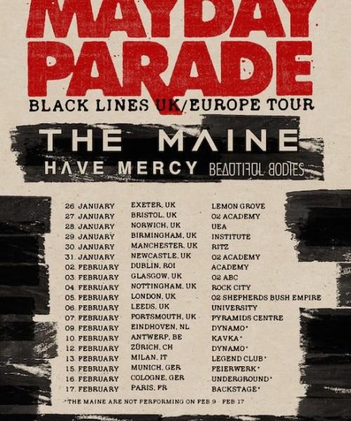 Mayday Parade Announce UK/Europe 2016 Tour