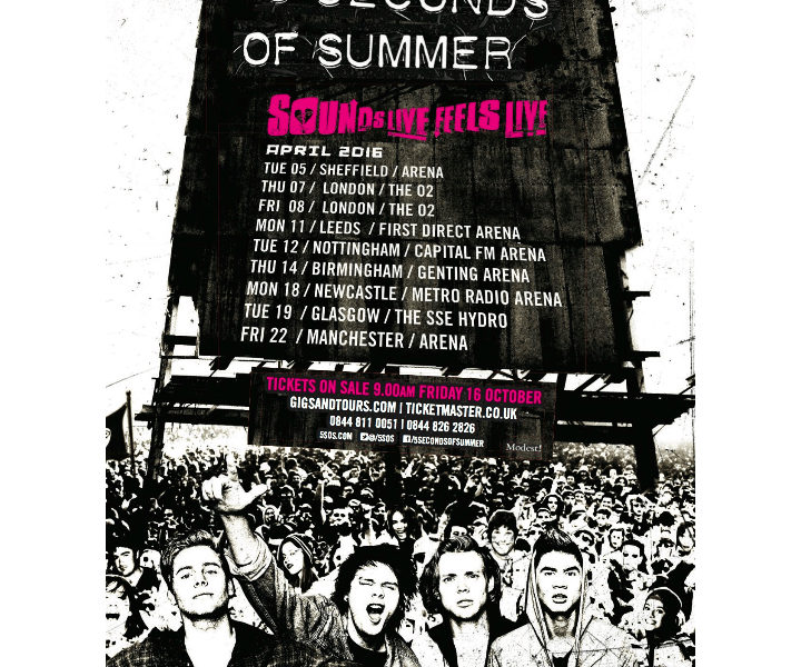 5 Seconds of Summer Announce April 2016 UK Dates
