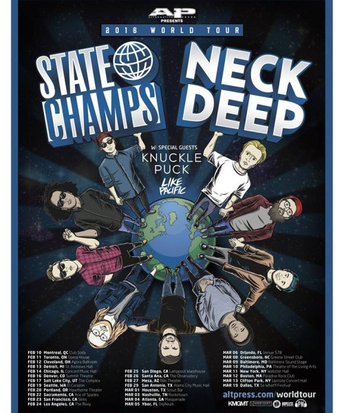 Neck Deep and State Champs Announce US Leg of World Tour