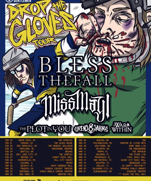 Blessthefall + Miss May I Announce 2016 North American Tour