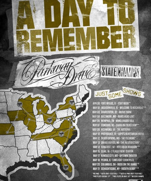A Day To Remember Announce Tour With Parkway Drive + State Champs