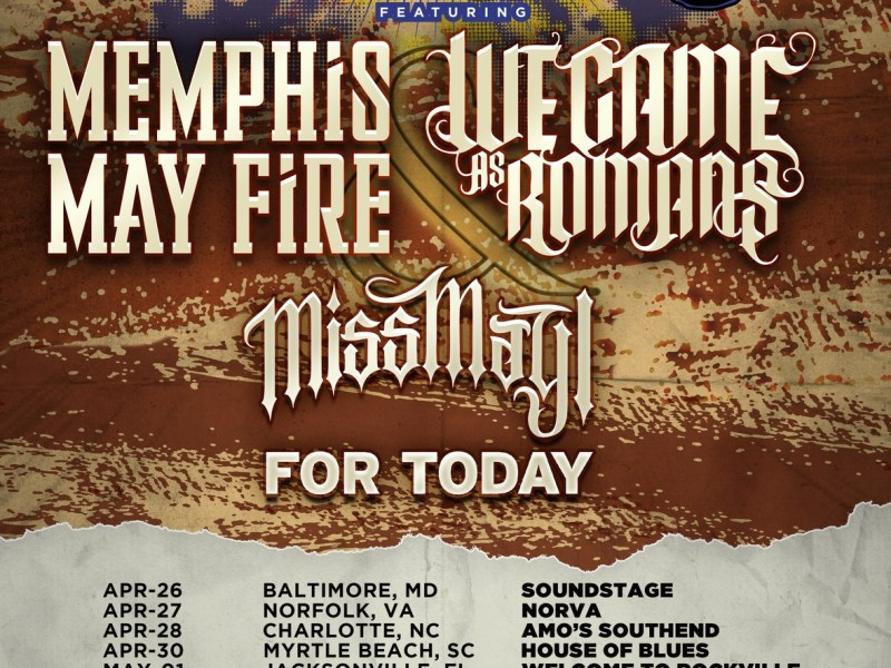 Memphis May Fire and We Came As Romans announce the 'Bands Vs. Food' Tour