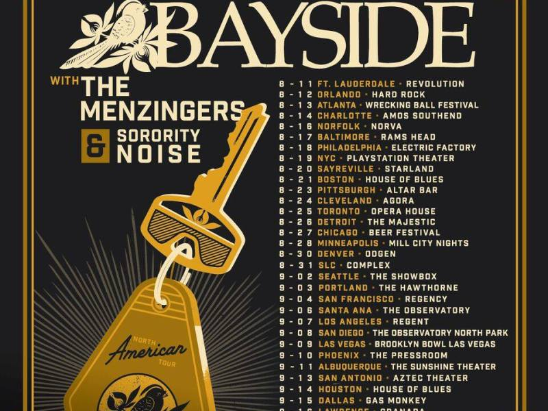 Bayside announce summer North American Tour