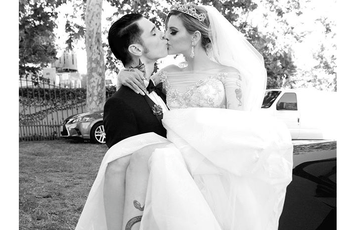 Andy Biersack and Juliet Simms marry