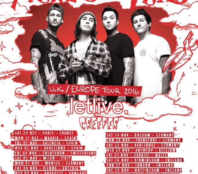 Pierce The Veil announce UK/European tour support