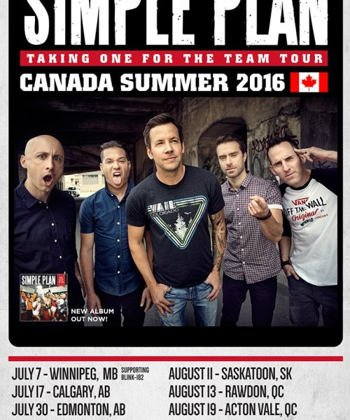 Simple Plan announce summer Canadian tour