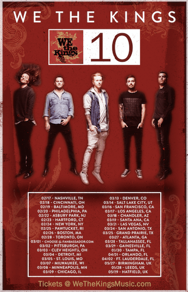 We The Kings announce 10-year anniversary tour
