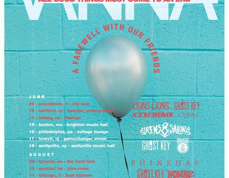 VANNA announce farewell tour
