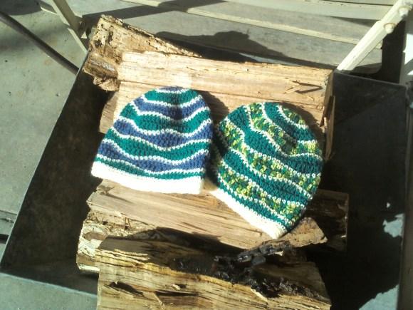 crochet beanies 1 + 2 - by rita summers april 2013