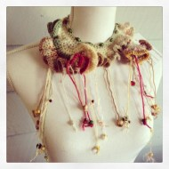 fibre art neckpiece 3, by stitchedupmama (alias rita summers)