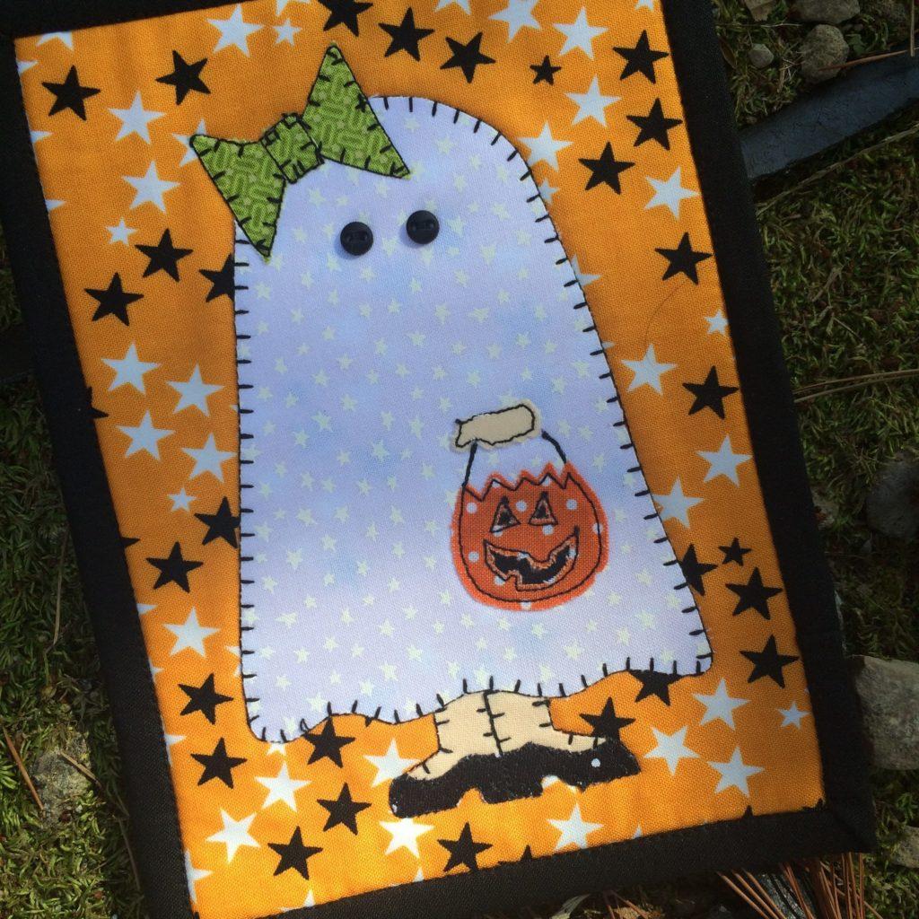 Girly Ghost Mug Rug Printed Pattern Stitches Of Love