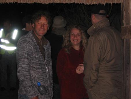 Darryl, Shirley and Darren at the beer barn!
